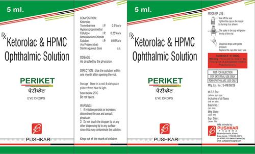 Ketorolac HPMC Ophthalmic Solution