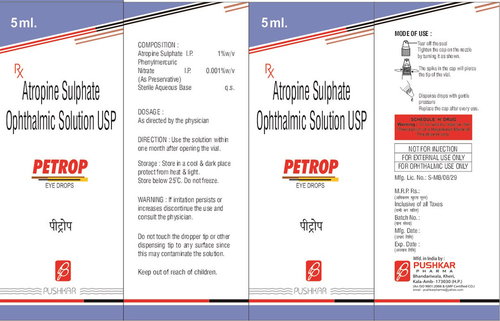 Atropine Sulphate Ophthalmic Solution USP