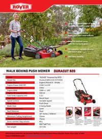 Walk Behind Push Mower Model 820