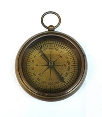 Brass Antique Flat Compass