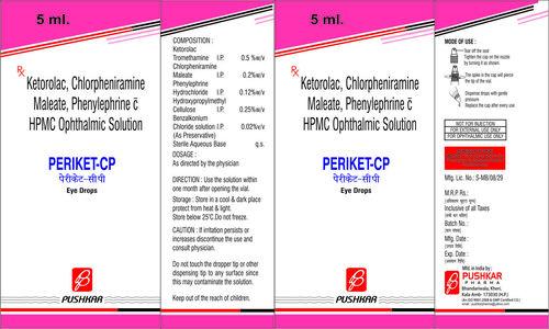 Ketorolac, Chlorpheniramine maleate, Phenylephrine HPMC Ophthalmic Solution