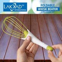 Foldable Plastic Whisk Beater Whisker Latte Maker