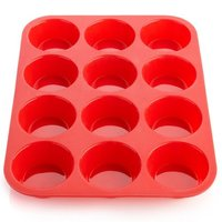 12 Cup Silicon Muffin & Cake Mould