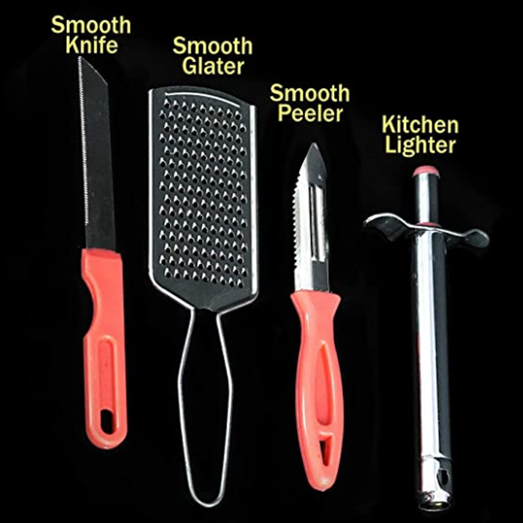 4 in 1 Heavy lighter with grater and knife Peeler Master combo