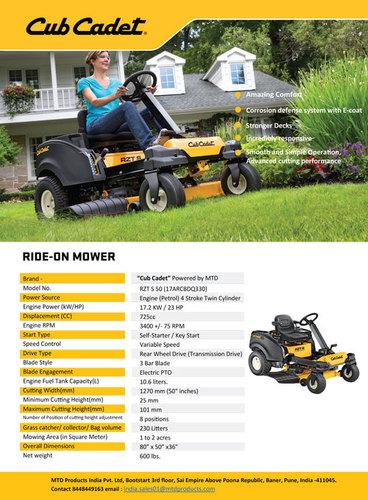 Rideon Mower Zero Turn