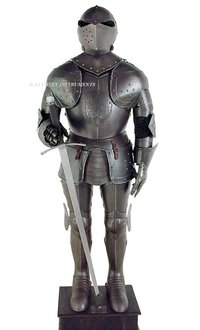 16th Century Aged Finish Suit Of Armor