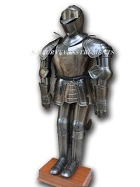 Collectible Medieval Knight Full Suit Of Armor With Display Stand