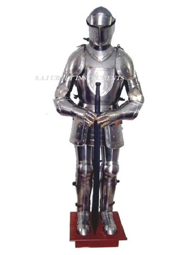 15th Century Medieval Knight Full Suit Of Armor On Stand