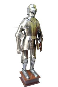 16th Century Medieval Knight Full Suit Of Armor With Display Stand