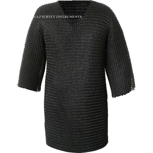 Butted Chainmail Shirt ~ Renaissance Haubergeon Black Chain Mail Armor ~ Collectible Medieval Gift