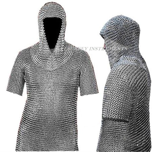 Medieval Chainmail Shirt & Coif Set