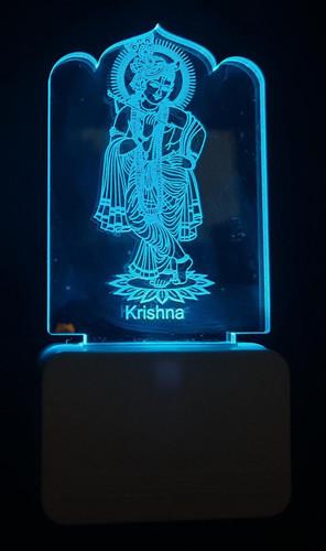 3D ACRYLIC BIG KRISHNA NIGHT LAMP