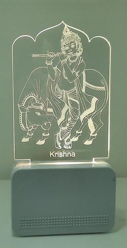 3D ACRYLIC KRISHNA WITH COW NIGHT LAMP