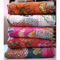 Kantha Quilt Home Made with Hand Stitched