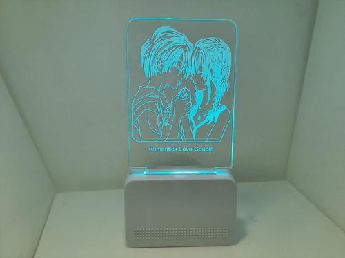 3D ACRYLIC ROMANTIC COUPLE NIGHT LAMP