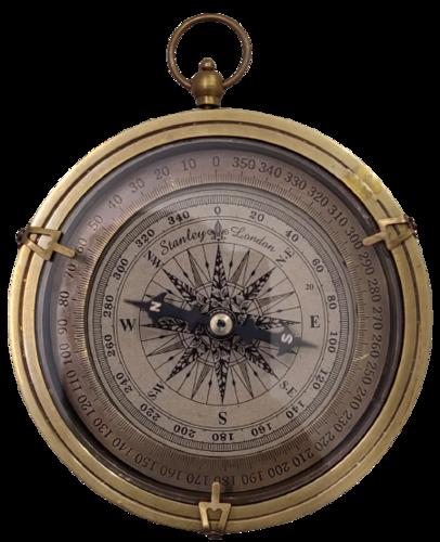 Open Face Brass Compass