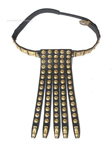 Roman Legionnaire Apron Belt ~ Leather & Brass Roman Legion Armor Belt ~ Collectible Gift