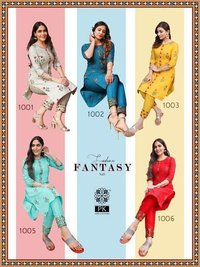 Fashion Fantasy Vol 1 Designer Heavy Cotton Print With Embroidery Work