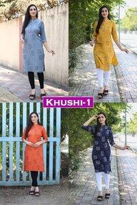 Khushi Vol 1 Designer Rayon Print Kurtis
