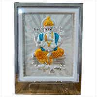 Religious Silver Ganesha Acrylic Stand