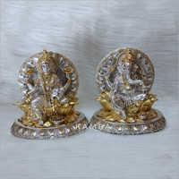Silver Gold Plated Laxmi Ganesh