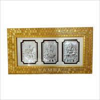 Silver Laxmi Ganesh Saraswati Frames