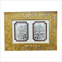 Silver Laxmi Ganesh Frame