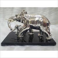Polished Silver Plated Elephant