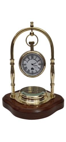 Home and office table watch with compass & with wooden stand
