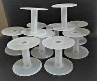 White Plastic Wire Spools Bobbin Roll A2