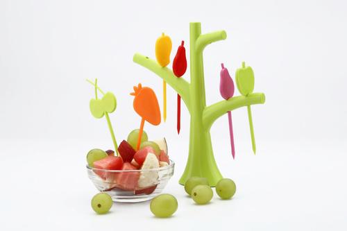 Plastic Bird Fruit Fork