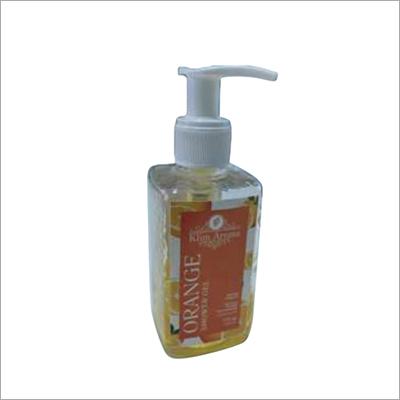 Plain Transparent Orange Shower Gel