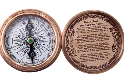 Flate Koem Copper Antique Compass
