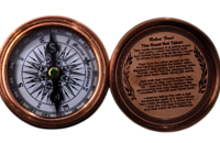Flate Koem Copper Antique Compass