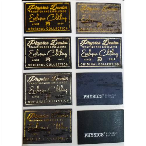 Gold Foil Denim PU Label