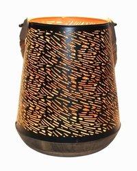 Iron And Wood Lantern