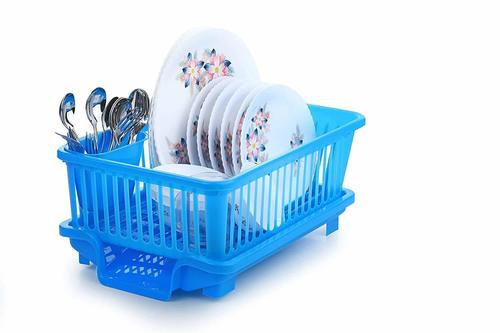 3 in 1 Large Durable Kitchen Sink Dish RackDrainer Washing Basket with Tray