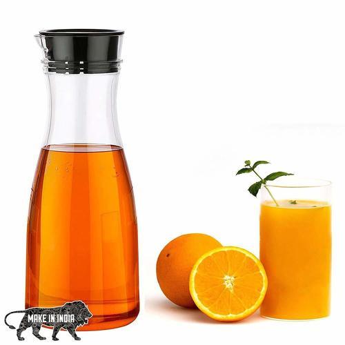 1 Litre Water Juice Milk Jug with Lid Transparent