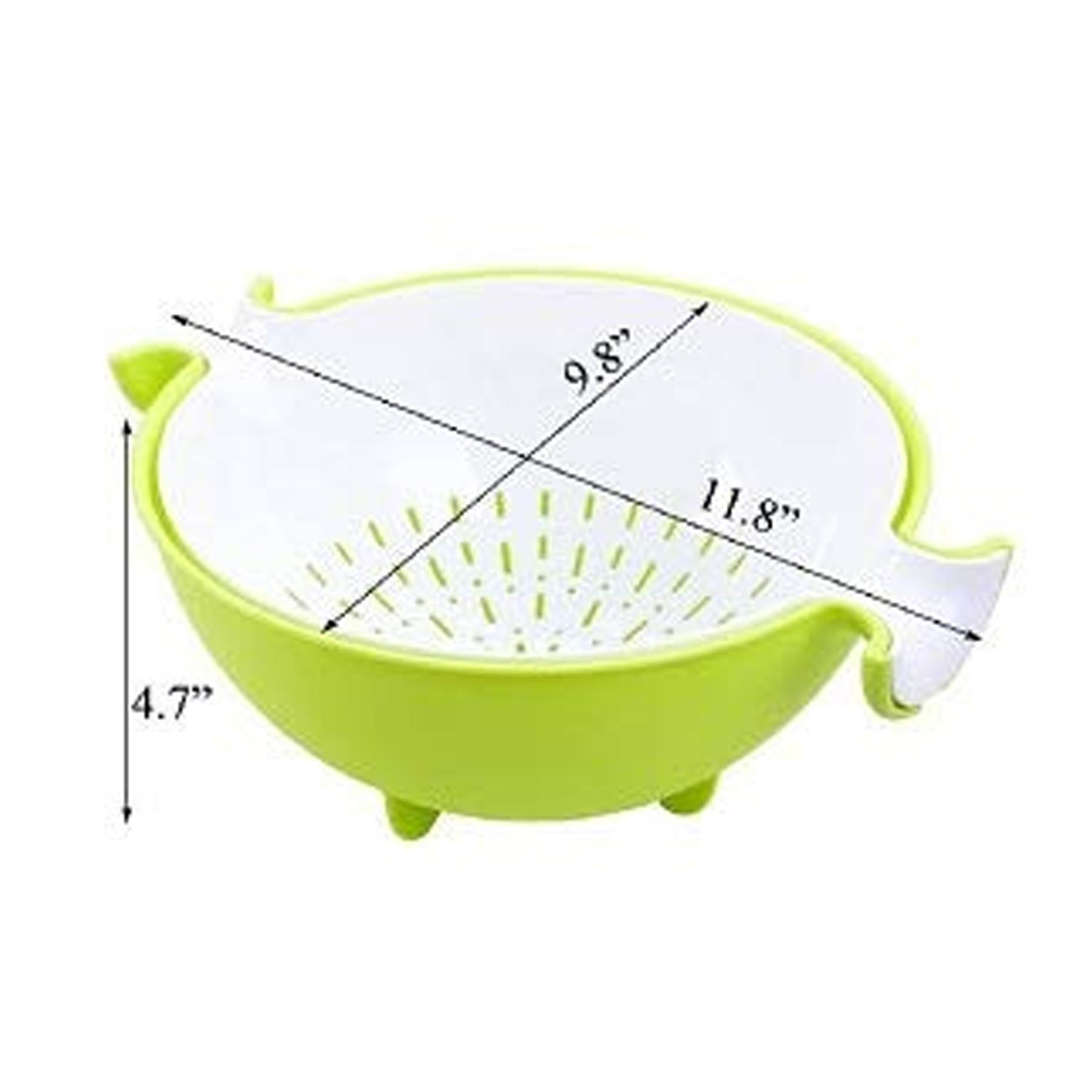 Multifunctional Washing Fruit Vegetables Draining Basket Strainer Bowl