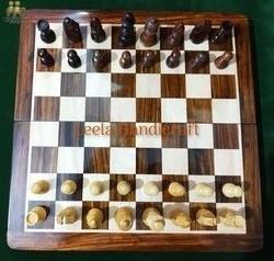 Bordered Wood Chess Board