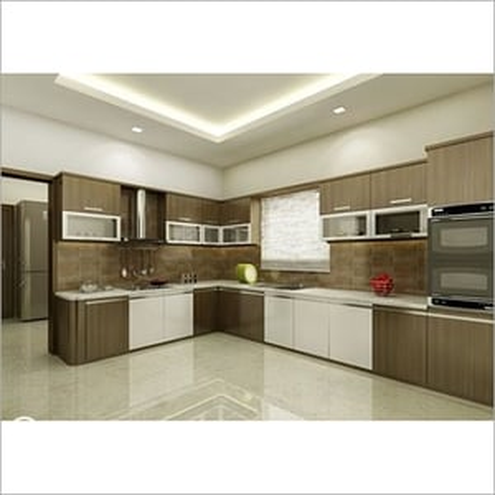 L Shape Modern Kitchen