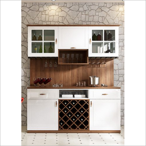 Teak Wood Bar Cabinet
