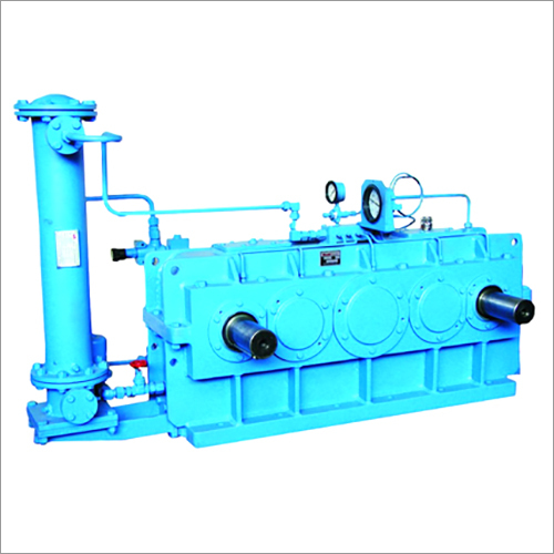 Two Output Helical Gearbox With Oil Cooling System For Hydraulic Hammer In Forging Shop