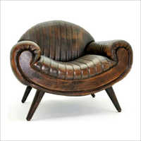 Pure Leather Single Seater Sofa Chair