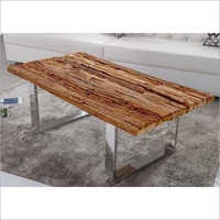 Wooden Sleeper Top With Chrome Stand