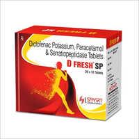 Diclofenac Potassium, Paracetamol And Serratiopeptidase Tablets