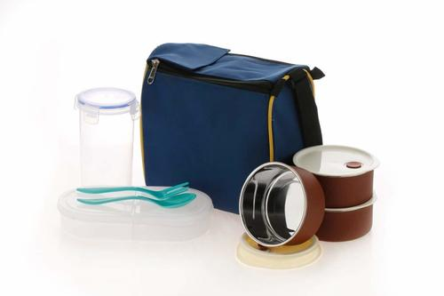 Lunch Box Set With Square Bag