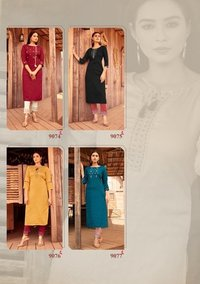 Mahi Vol 5 Designer Fancy Nylon Viscose With Stripe Kurtis Ewith Pants