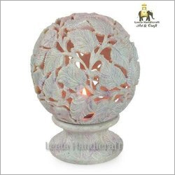 Stone Carved T- Light Candle Holder