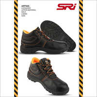 Textured Safety Leather Shoes